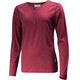 Lundhags Merino Light Henley Longsleeve Shirt Women red